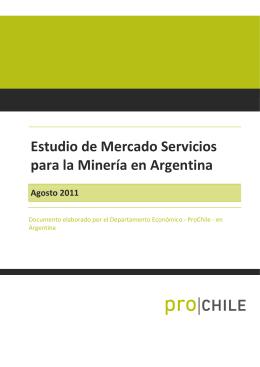 Estudio de Mercado Servicios para la Minería en Argentina