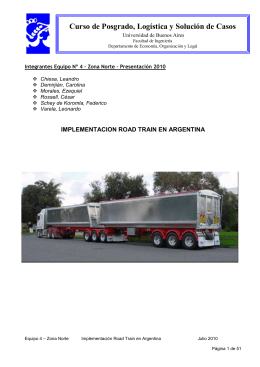 Road Train - Logistica y Supply Chain