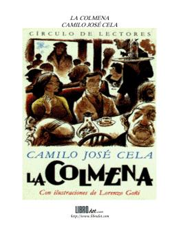 LA COLMENA CAMILO JOSÉ CELA - Colegio Ikastola Berriotxoa