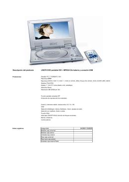 Descripción del producto LW270 DVD portable IDX +