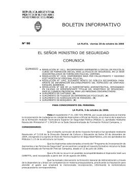 N° 90 - Ministerio de Seguridad