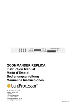 QCOMMANDER REPLICA Instruction Manual Mode d`Emploi