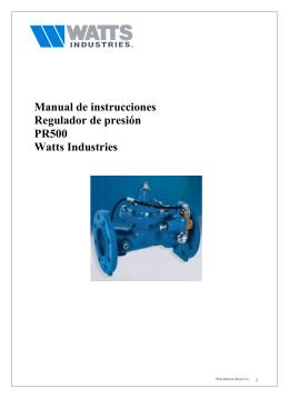 Manual de instrucciones Regulador de presión