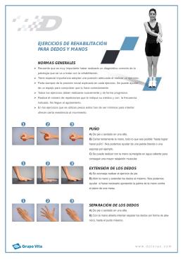 Rehabilitación de los dedos de la mano