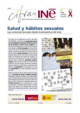 Salud y hábitos sexuales - Instituto Nacional de Estadística