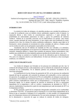 REDUCCIÓN SELECTIVA DE NOx CON HIDROCARBUROS