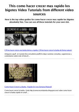 #Z como hacer crecer mas rapido los bigotes PDF video