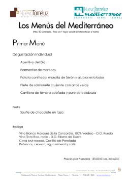 2014.11 Menus restaurante Mediterraneo