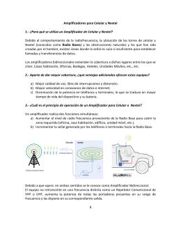 Amplificadores para Celular y Nextel 1.- ¿Para qué se
