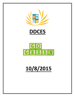 Go Green, October 8, 2015