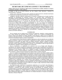 NOM-004-SCT/2008 - Secretaría de Comunicaciones y Transportes