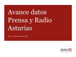 Avance datos Prensa y Radio Asturias