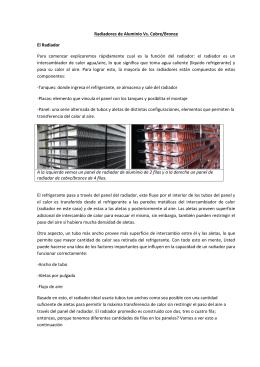 Radiadores de Aluminio Vs. Cobre/Bronce El Radiador Para