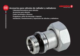 Accesorios para válvulas de radiador y radiadores (1,3