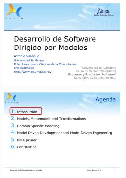 Desarrollo de Software Dirigido por Modelos