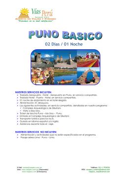Puno 2 días / 1 noche - VIAS PERU Agencia de Viajes