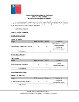 4. BASES DE POSTULACIÓN 23 DE ENERO 2015 PARA