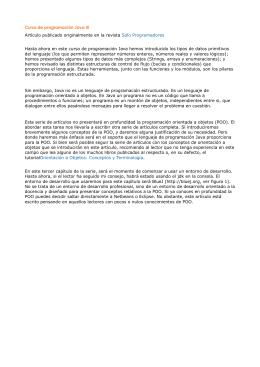 Curso de programación Java III Artículo publicado