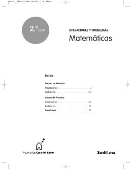 Operaciones y problemas Matemáticas