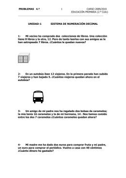4º PRIMARIA Problemas 2009-10