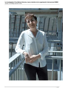 La investigadora Pura Muñoz-Cánoves, nuevo miembro