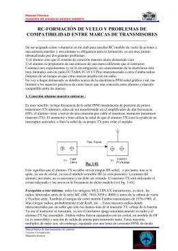 RC-FORMACIÓN DE VUELO Y PROBLEMAS DE