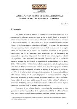 la yerba mate en misiones (argentina)