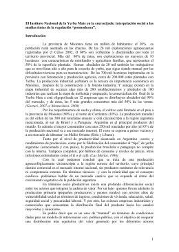 1 El Instituto Nacional de la Yerba Mate en la encrucijada