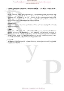 PUBLICIDAD Y PROPAGANDA: TERMINOLOGÍA