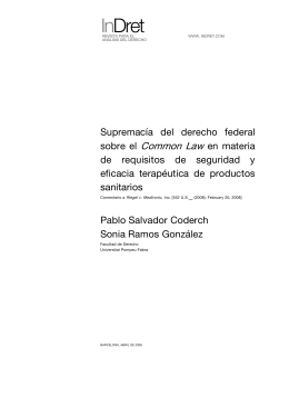 Supremacióa del derecho federal sobre el Common Law en