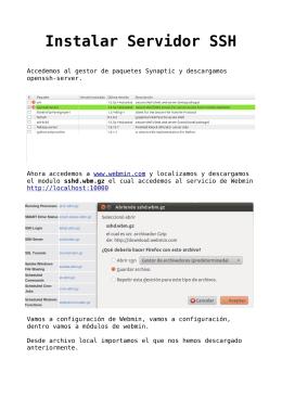 Instalar Servidor SSH