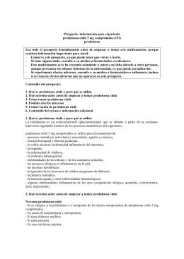 Prospecto: información para el paciente prednisona