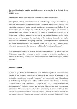 Islas. Media Ecology