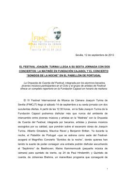 nota de prensa : conciertos sábado 14.9.