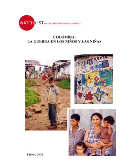 COLOMBIA: LA GUERRA EN LOS NIÑOS Y LAS NIÑAS