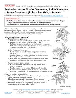 Protección contra Hiedra Venenosa, Roble Venenoso y Sumac
