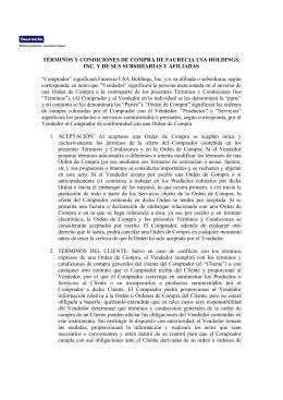 TÉRMINOS Y CONDICIONES DE COMPRA DE FAURECIA USA