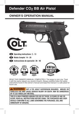 Defender CO2 BB Air Pistol