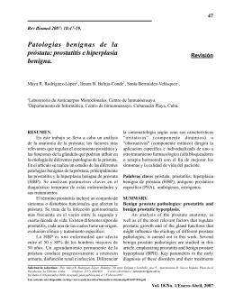 Patologías benignas de la próstata