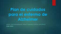 Plan de cuidados para el enfermo de Alzheimer
