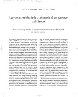 La restauración de la Adoración de los pastores del Greco