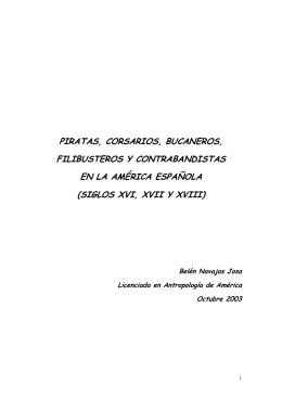ALGUNOS PIRATAS, CORSARIOS, BUCANEROS