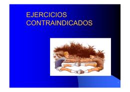 EJERCICIOS CONTRAINDICADOS