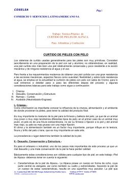 CURTIDO DE PIELES CON PELO