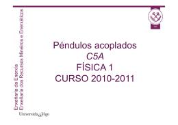Péndulos acoplados C5A ÍFSICA 1 CURSO 2010