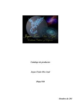 Catalogo de productos Joyas Fenix Oro Azul Plata 950 Octubre de