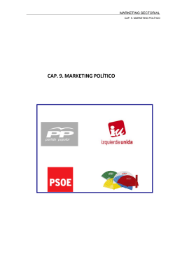 CAP. 9. MARKETING POLÍTICO