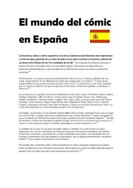El mundo del cómic en España
