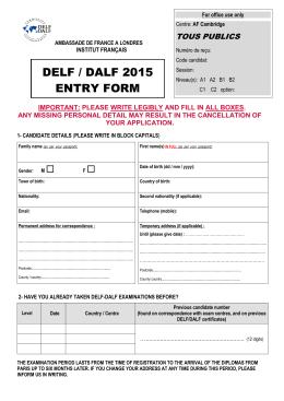 your application form - Alliance Française de Cambridge