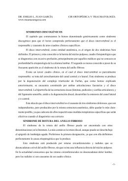 Patologia discal - Dr. Emilio L. Juan García